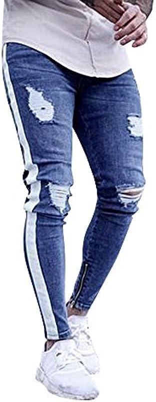 Męskie jeansy, Regular Slim Stretch Jeans, świetne chłopięce spodnie dresowe, spodnie dresowe o wyglądzie dżinsÓw lato zima: Odzież