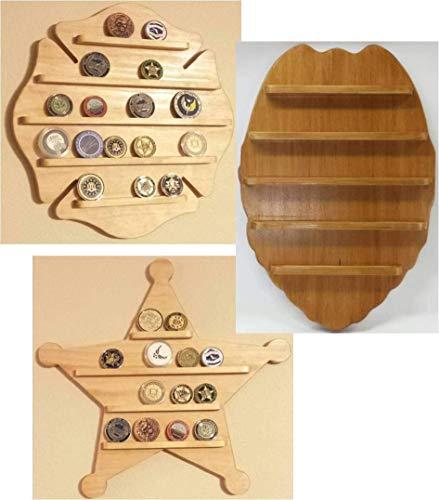 Wall Hanging Challenge Coin Holder - Display - Firefighter, Police, Sheriff - Maltese Cross, Badge, Deputy -