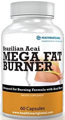 Brazilian Acai Mega Fat Burner Garcinia Cambogia 65% HCA Thermogenic Hyper Metabolizer Diet Pill Weight Loss Green Coffee Bean Extract Weight Control Fat Burner Fat Incinerator Appetite Suppressant