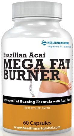 Garcinia Cambogia for Weight Loss - Brazilian Acai Mega Fat Burner 65% HCA Thermogenic Hyper Metabolizer Diet Pill Weight Loss Green Coffee Bean Extract Weight Control Fat Burner -