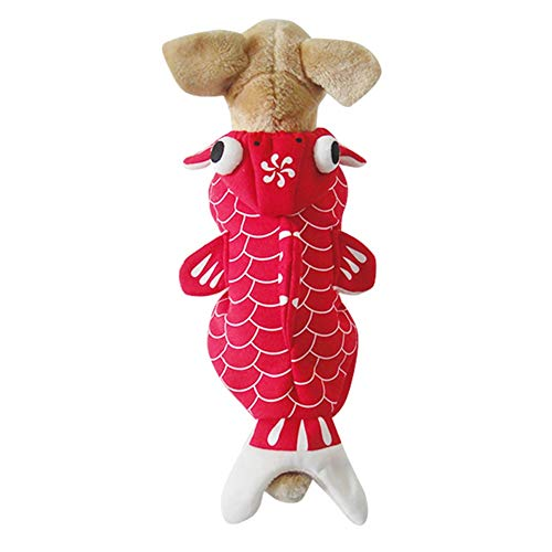 Goldfish Dog Costume - Funny Pet Costume Apparel Fish Cosplay Suit Halloween Christmas Clothes for Cats Puppy Dogs