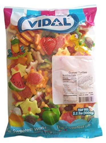 Vidal Gummi Turtles Candy, 2.2 Pounds