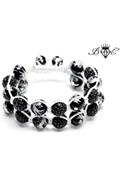 White Dragon Shamballa Bracelet | Hip Hop Jewelry | Crystal Disco Ball Bangle (By Bagati Crysto)