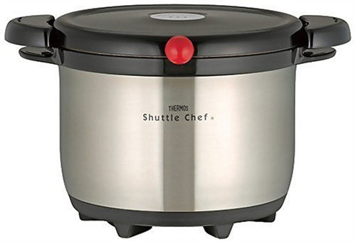 Thermos Vacuum insulation Keep warm Cookware shuttlechef black 3L Kba-3001 Sbk by Thermos