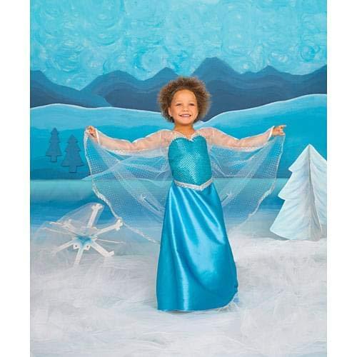 Great Pretenders Girls Elsa Ice Crystal Queen Costume, Blue, Medium