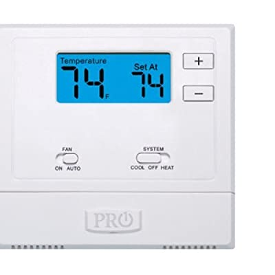 PRO1 IAQ T601-2 Single-Stage 1 Hot/1 Cold Non-Programmable Thermostat by PRO1 IAQ
