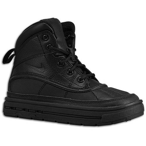 Nike Boys Woodside 2 High Snow Boots (PS) Black/Black 11C (Nike Acg Boots Woodside)