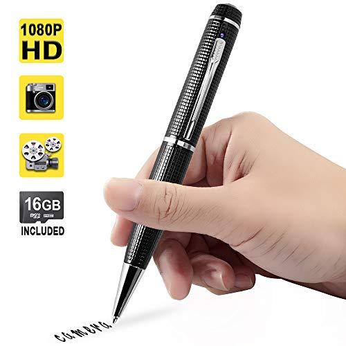 1080P HD Mini Hidden Camera Pen Spy Video Recorder Support Photo Taking, 16GB Memory Card Built-in