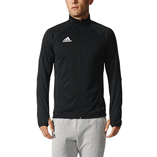 adidas Mens Tiro 17 Training Jacket Black/White S (Run Team Jacket)