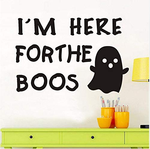 xiaomeihao I'm Here Forthe So Cute Ghosts Wall Stickers for Kids Room Halloween Decoration DIY Wall Decals Home Decoration 87X59Cm]()