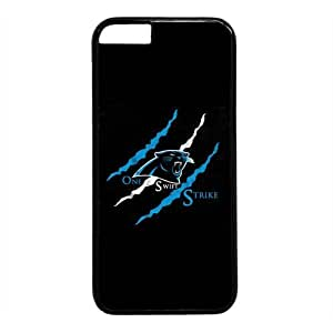 Carolina Panthers Theme Case for IPhone 6 Plus 5.5inch PC Material Black