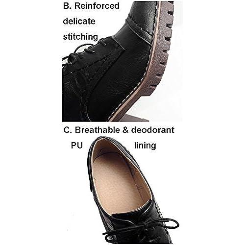 1906fdc9171 Outlet HiTime Zapatos Planos con Cordones de Piel Mujer - www ...