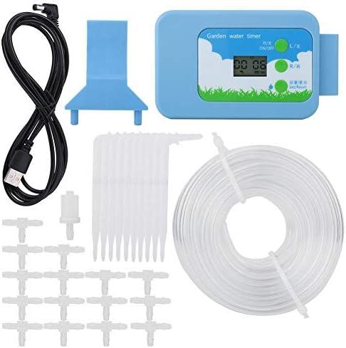 Nologo HENG LCD-Bewässerungssteuerungs-Set für den Garten, automatische Bewässerungssysteme, Timer blau