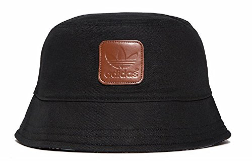 7c36aee8e84 Image Unavailable. Image not available for. Colour  adidas Originals Men s  Trefoil Bucket Hat Cap In Black ...