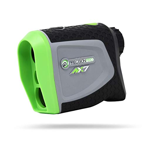 Precision Pro Golf, NX7 Golf Rangefinder, Laser Golf Rangefinder with Pulse Vibration, 400 Yard Range, 6X Magnification, Lifetime Battery Replacement Service