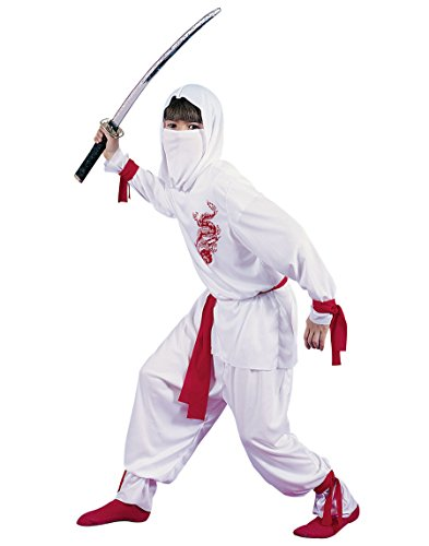 [Ninja Costume - Large] (White Ninja Costumes For Kids)