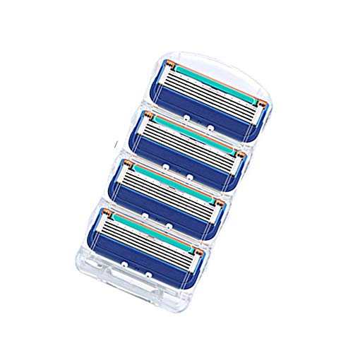 RUSTAM HASHYMOV Safety Shaver Safety Shaving Men´s Shaver Contains 5 Blades Without Residue (Dark Blue, OneSize)