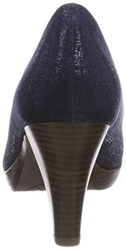 Femme 37 Marco Navy Tozzi Metallic Noir Escarpins EU Bleu 22411 vSqtwqxX