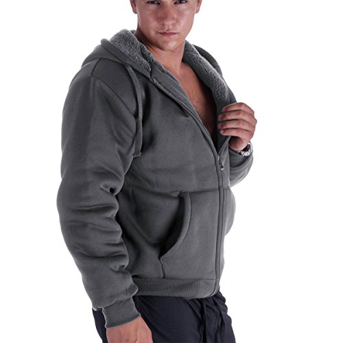 Tanbridge-Heavyweight-Sherpa-Lined-Plus-Sizes-Warm-Fleece-Full-Zip-Mens-Hoodie-With-Padded-Sleeve-Rib-Cuffs