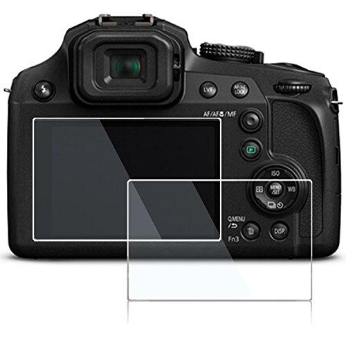 Screen Protector for Panasonic Lumix TZ95 FZ80 FZ85 TZ85 TZ90 DMC-GF9 DMC-GF8,debous Anti-finger Optical Tempered Glass Hard Protective Film (2pack)