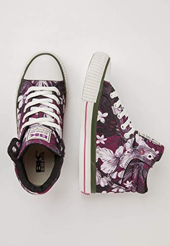 Sportive Dee Skateboard White Knights Scarpe Flower Donna British Purple 16 Viola BwqOt154