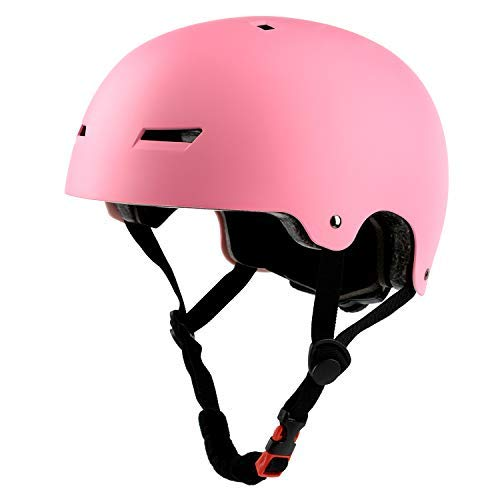 Ouwoer Kids/Adult Skateboard & Bike Helmet, CPSC Certified, Adjustable and Multi-Sport, from Toddler to Adult (Pink)