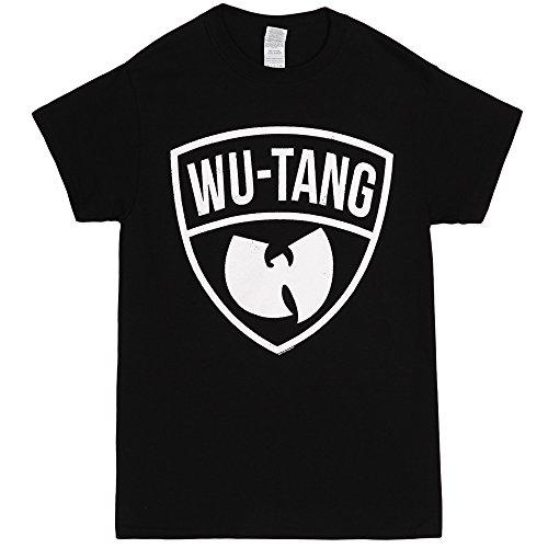 Wu-Tang Clan Classic Logo Military Shield Adult T-shirt - Black (Large)