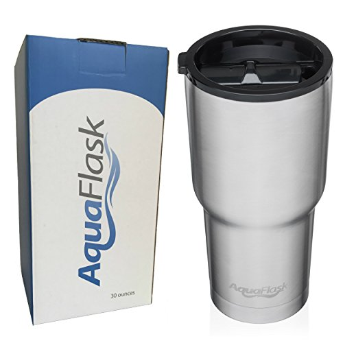 AquaFlask Insulated Stainless Steel Tumbler Cup with Sliding Splash-Proof Lid (30 oz)