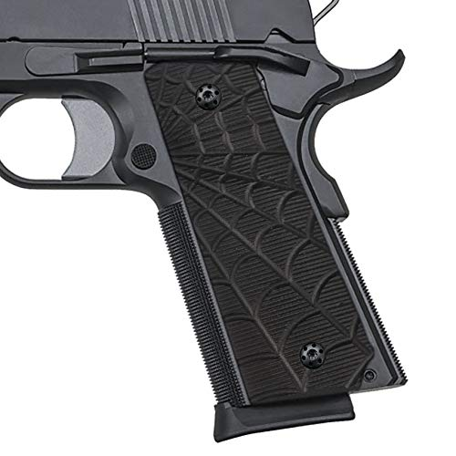 Cool Hand 1911 Slim G10 Grips, Free Screws Included, Full Size (Government/Commander), Big Scoop, 3/16