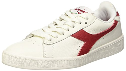 Rosso Bco Pompes Plateforme Peperoncino Low Waxed Bianco Bianco L Mixte à Diadora Adulte Game Plate qxpwTH67