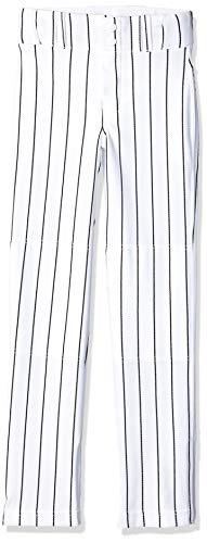 CHAMPRO Youth Triple Crown Pinstripe Ob Pant, White/Black, Small
