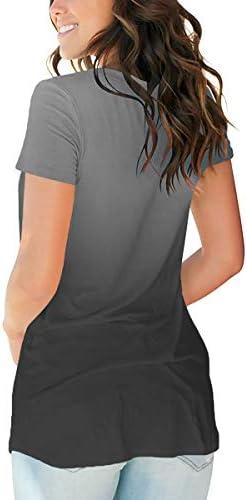 SAMPEEL Women's Basic V Neck Short Sleeve Floral T Shirts Summer Casual Tops 5