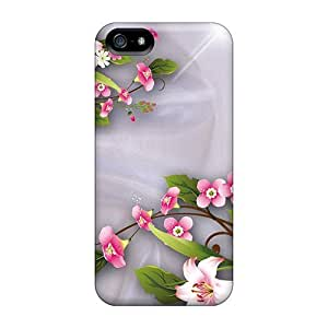 Iphone 5/5s Case Bumper Tpu Skin Cover For Lilies On Satin Accessories