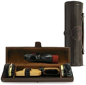großartige Qualität Genießen Sie kostenlosen Versand beste Seite Stone & Clark 8PC Shoe Polish & Care Kit Leather Shoe Shine ...