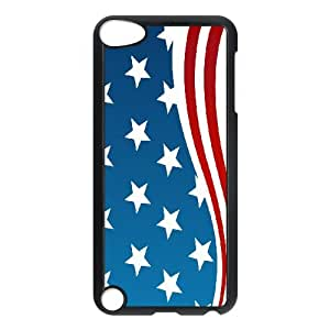 ADCASE Ipod Touch 5 Phone Case Of American Retro Flag,Bumper Plastic Customized Case