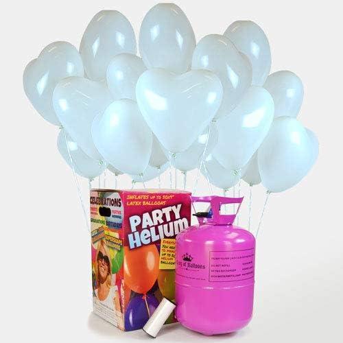 We Are Party Pack Romántico: bombona de Helio Maxi + 50 Globos de ...