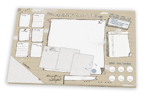 Schreibtischunterlage DENKZETTEL, aus Papier zum Abreißen, A3 (30 x 42 cm), 25 Blatt Schreibunterlage Abreißblock