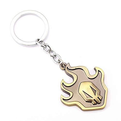 Algol - 10 Pcs Anime Cosplay Bleach Key Chain Kurosaki Ichigo False Fire Metal Gold Key Ring Pendant Link Chain BIRTHDAY GIFT 5222