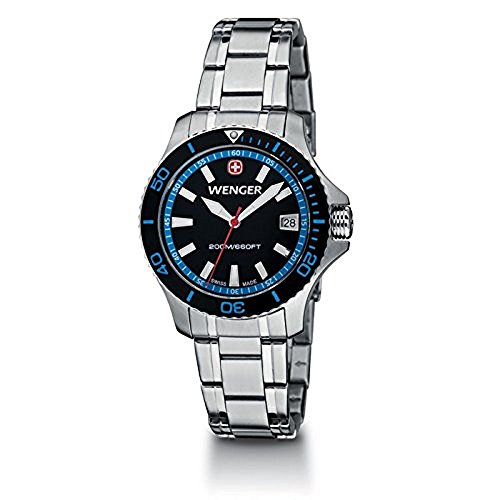 Wenger-SEA-Force-Small-Black-and-Blue-Dial-Bracelet