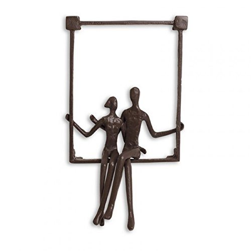 Danya BTM Couple Sitting on a Window Seal Iron Wall (Iron Art)