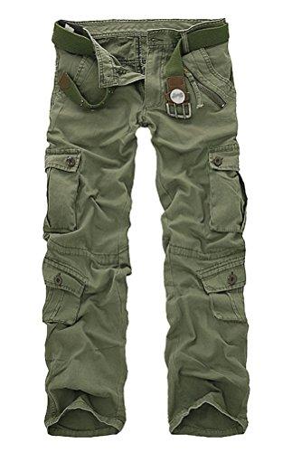 Uni Style Ceinture sans D'été Brinny Cool Vert Longues Combat Jambes Homme Militaire Vintage Pantalon Camouflage Cargo URxxg4q