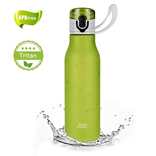 JSD Sports Water Bottle, Simple Best Water Bottle, One Click Open, Flip Top Leak Proof Lid, Safety Material Bottle Perfect Suitable for Travel and Home (20 oz)