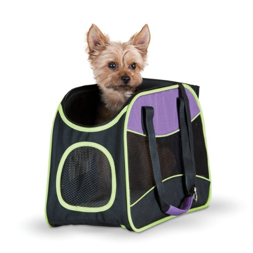 K&H Manufacturing Easy Go Carrier Purple/Black/Lime Green 8-Inch by 16.5-Inch Review