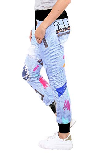 si moda Pantalón - Tiro Caído - para Mujer Negro