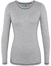 Adar Womens Comfort Long Sleeve Fitted T-Shirt Underscrub Tee