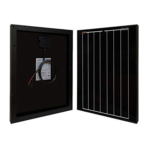 Richsolar Black 20 Watt 12 Volt Off Grid Portable Monocrystalline Solar Panel for RV Marine Boat 20W
