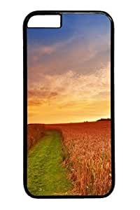 Crop ears gold grass Polycarbonate Hard Case Cover For HTC One M8 Black