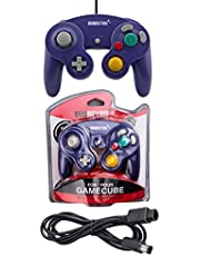 Purple Controller and 6ft Extension Cable Set –Compatible with Nintendo Gamecube, Switch, Wii U and PC by EVORETRO