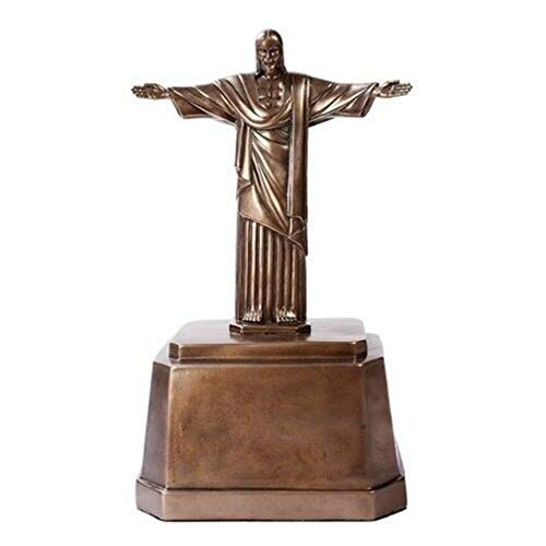Ky & Co YesKela Brazil Corocovado Mountain Landmark Christ The Redeemer Cremation Urn Figurine