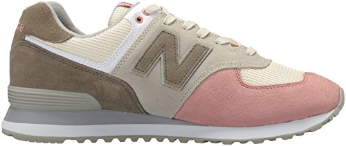 low priced 3bde2 beadd New Balance Men's 574 Serpent Luxe Sneaker,Bone with Dusted Peach,4 D US